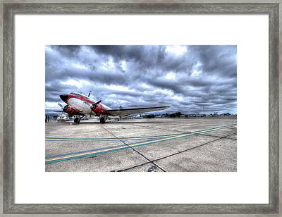 Dc3 And C47 Among The Mustangs At Salinas Air Show Framed Print
