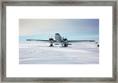 Dc3 At Union Glacier Framed Print by Peter J. Raymond