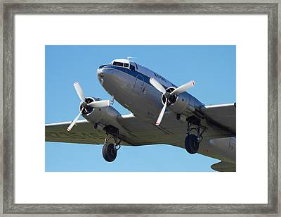 Dc3 (douglas C-47 Dakota Framed Print by David Wall