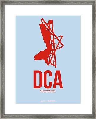 Dca Washington Airport Poster 2 Framed Print by Naxart Studio