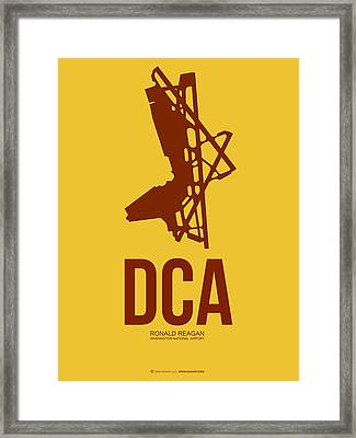 Dca Washington Airport Poster 3 Framed Print by Naxart Studio
