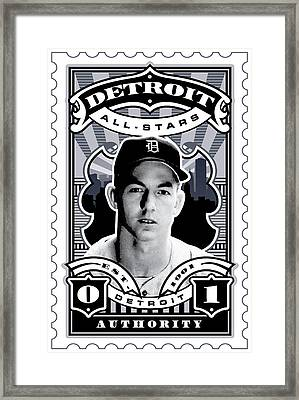 Dcla Al Kaline Detroit All-stars Finest Stamp Art Framed Print