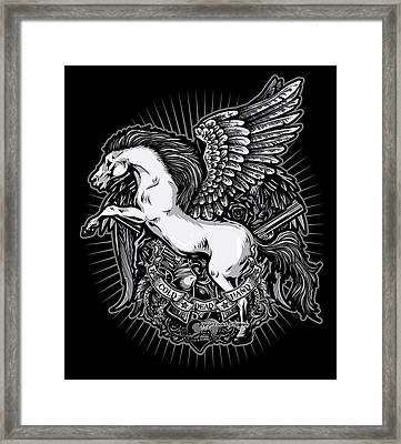 Dcla Cold Dead Hand Pegasus Framed Print by David Cook Los Angeles