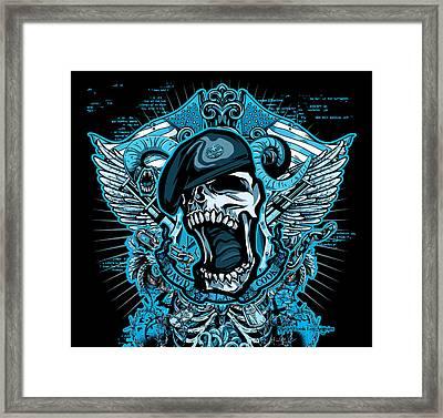 Dcla Designed Skull Combat Medic Framed Print by David Cook Los Angeles