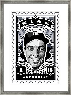 Dcla Joe Dimaggio Kings Of New York Stamp Artwork Framed Print by David Cook Los Angeles