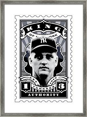 Dcla Roger Maris Kings Of New York Stamp Artwork Framed Print by David Cook Los Angeles