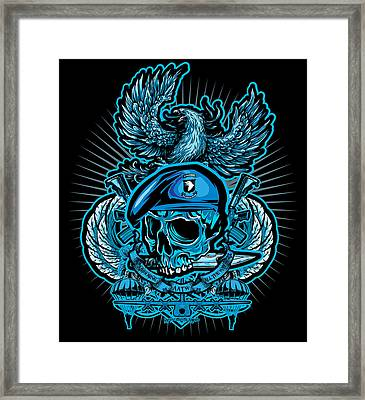 Dcla Skull Airborne All The Way Framed Print by David Cook Los Angeles