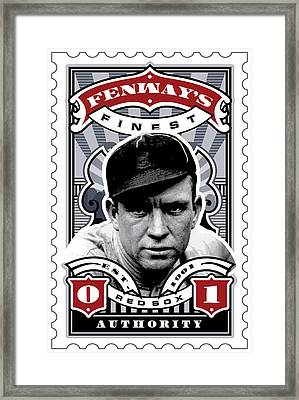 Dcla Tris Speaker Fenway's Finest Stamp Art Framed Print by David Cook Los Angeles