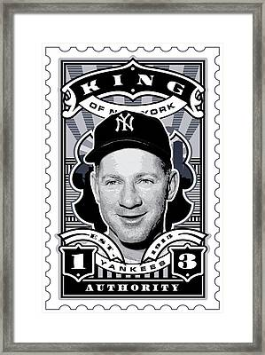 Dcla Whitey Ford Kings Of New York Stamp Artwork Framed Print by David Cook Los Angeles
