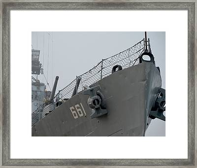 Dd-661 Nose With Anchors Framed Print