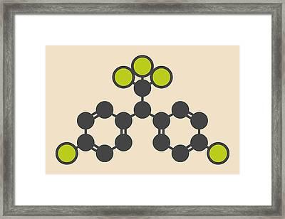 Ddt Molecule Framed Print by Molekuul