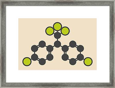 Ddt Molecule Framed Print