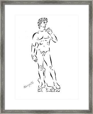 De-constructing David Framed Print by Pamela Allegretto