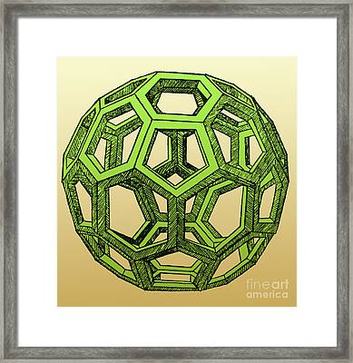 De Divina Proportione, Icosahedron Framed Print by Science Source