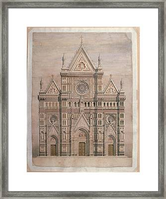 De Fabris Emilio, Dome, Draft Framed Print by Everett