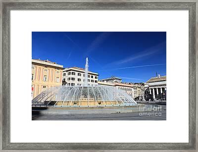De Ferrari Square - Genova Framed Print