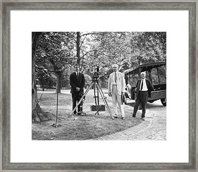 De Forest Pioneering Phonofilm, 1924 Framed Print by Science Photo Library