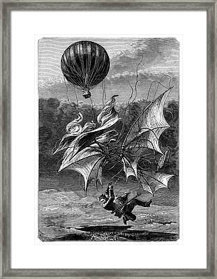 De Groof's Fatal Flight Framed Print by Science Photo Library