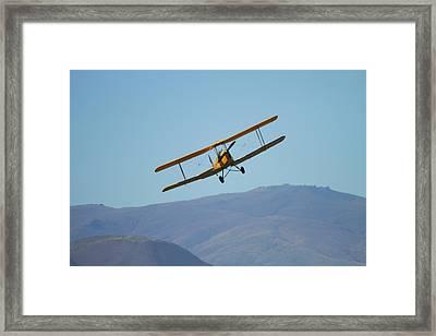 De Havilland Dh 82a Tiger Moth Biplane Framed Print