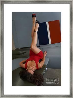 de Havilland Mosquito 03 Framed Print by Photographer Richard Hood Model Gee Lyon