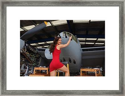 de Havilland Mosquito 04 Framed Print by Photographer Richard Hood Model Gee Lyon