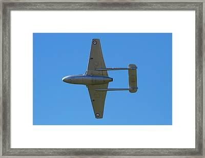 De Havilland Vampire Jet Attack Aircraft Framed Print
