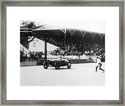 De Paolo Winner At Indy 500 Framed Print by Underwood Archives