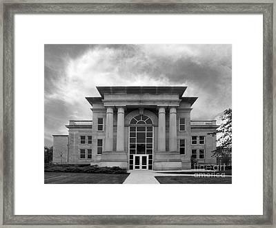 De Pauw University Emison Building Framed Print by University Icons