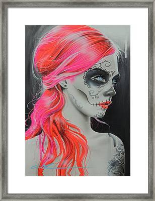 Sugar Skull - ' De Rerum Natura ' Framed Print