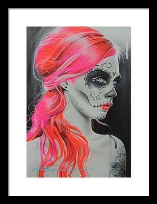 Sugar Skull Framed Prints