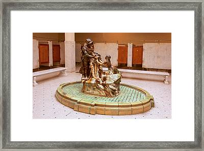 De Soto Fountain In The Fordyce Bathhouse At Hot Springs Framed Print by John M Bailey