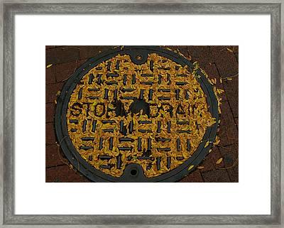 De Stijl Drain Framed Print by Gia Marie Houck