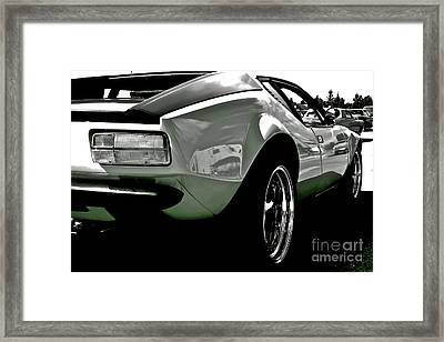 Framed Print featuring the photograph De Tomaso Pantera  1973 by Linda Bianic