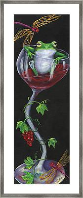 De-wine Intervention Framed Print by Debbie McCulley