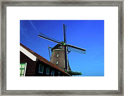 Framed Print featuring the photograph De Zoeker Blue Skies by Jonah  Anderson