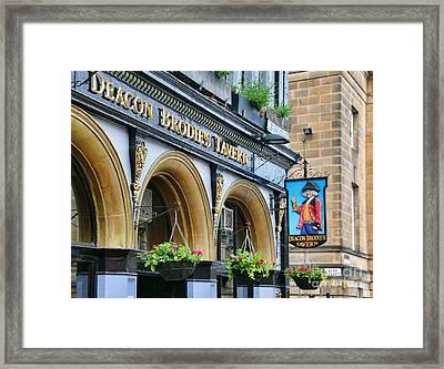 Deacon Brodies Tavern 6599 Framed Print