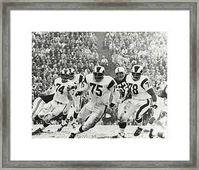 Deacon Jones Poster Framed Print by Gianfranco Weiss
