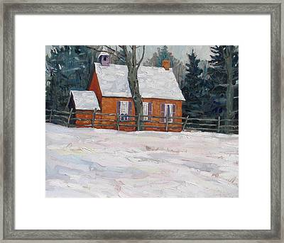 Deacon School House Circa 1898 Framed Print by Phil Chadwick