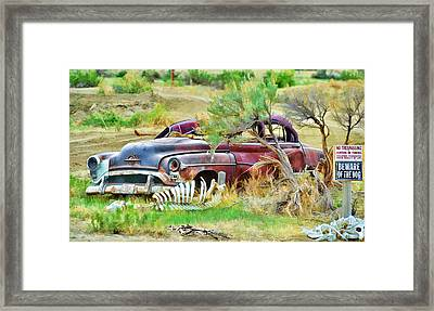 Dead Car Framed Print