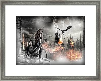 Dead City Framed Print by Wendy White