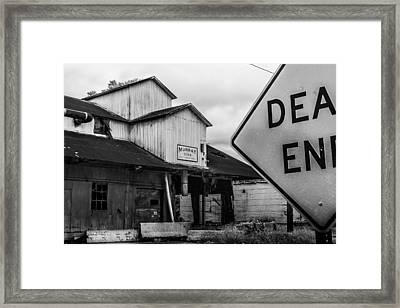 Dead End Framed Print by Jon Woodhams