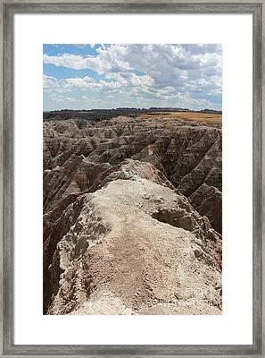 Dead End Trail In Badland National Park South Dakota Framed Print by Adam Long