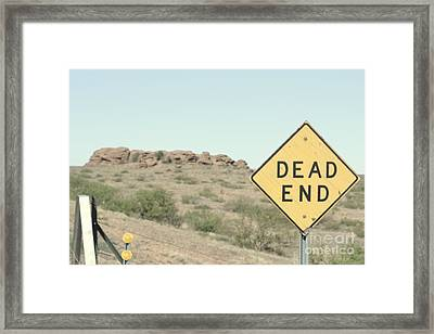 Framed Print featuring the photograph Dead End by Utopia Concepts