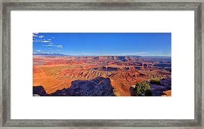 Dead Horse Point Afternoon Panorama Framed Print