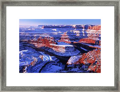 Dead Horse Point At New Year Day Framed Print