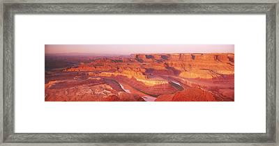 Dead Horse Point At Sunrise In Dead Framed Print by Panoramic Images