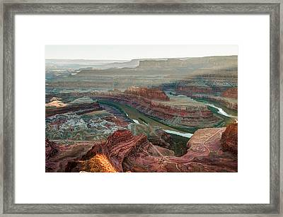 Dead Horse Point At Sunset Framed Print by Gregory Ballos