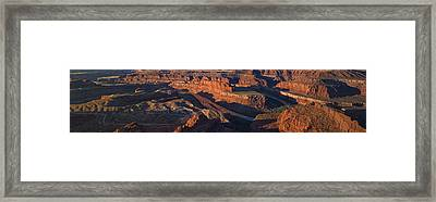 Dead Horse Point Sunrise Panorama Framed Print by Mark Kiver