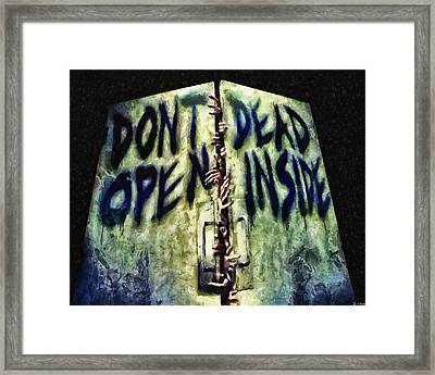 Dead Inside Framed Print by Joe Misrasi