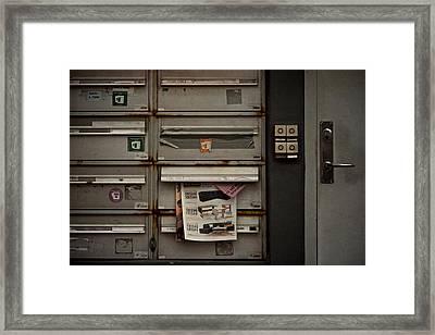 Dead Letters Framed Print